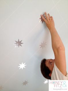 DIY Starry Ceiling Tutorial, this one is done with a silhouette and stickers!
