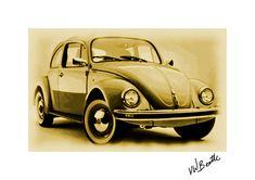VW Beetle print by Paulo Ess for Enki Images Vw Beetles, Car Parking, Lovers Art, Art For Sale, Digital Art, Alternative, Posters, Art Prints, Cars