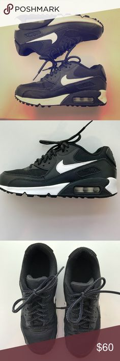 Nike Air Max 90 Flash Sneakers Black and white nike air max 90 flash shoes. In perfect condition- only worn a few times! Big kids size 4= women's size 6 Nike Shoes Sneakers