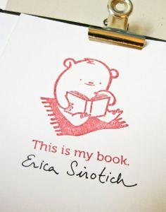 Bibliobears Ex Libris Clear Stamp by Cuddlefish Press