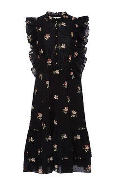 Floral Ruffle Mini Dress by ULLA JOHNSON Now Available on Moda Operandi