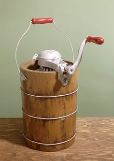 old school ice cream maker