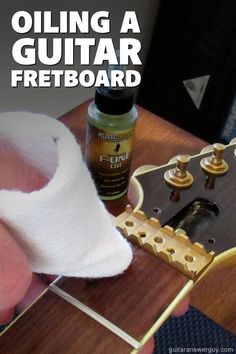 If you're going to oil your guitar's fretboard, be sure you use the right kind of oil. Your guitar isn't a salad, so save the olive oil for your leafy greens. Guitar Tips, Info, Keep It Cleaner, Olive Oil, Guitars, Salad, Cool Stuff, Building, Music
