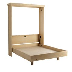 Elsa Drop Table Murphy Bed in Maple - Natural Finish.  Shown with Bed Open