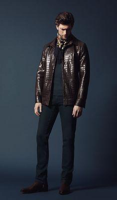 Alligator jacket, crocodile leather jacket for men