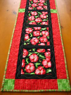 Bright n Sassy Table Runner by PatchworkMountain on Etsy, $42.00