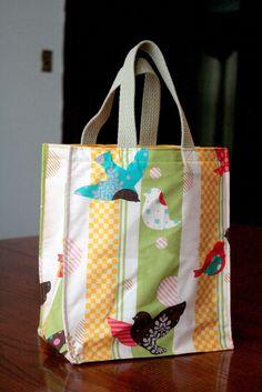 Hacer una bolsa de asas reutilizable en dos tamaños (patrón de costura libre)! …