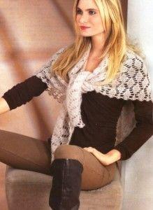 Вязание шали и платков крючком - подборки, модели, фото – Страница 2 из 5 : Kruchcom.ru Crochet Scarves, Free Pattern, Knitting, Cowls, Crochet Things, Arrow Keys, Close Image, Wraps, Board