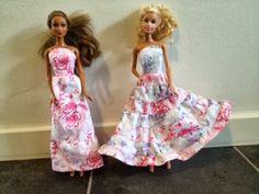 monikat's kreative blog: Kjoler til små piger(barbie)