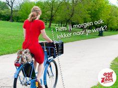 fiets naar je werk.... Dress Red Day http://enjoythegoodlifeblog.wordpress.com