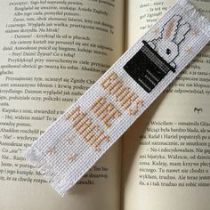 Cross stitch bookmark - Books Are Magic, embroidery bookmark, gift for readers, book lover