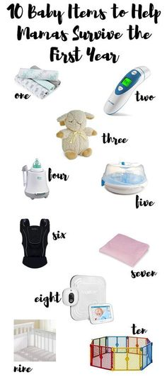 Click to see 10 items to help moms survive that rough first year of motherhood. Full of great ideas for baby shower gifts for the mom-to-be!