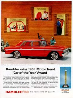 1964 rambler original vintage ad features the classic 770 for Motor trend crossover of the year