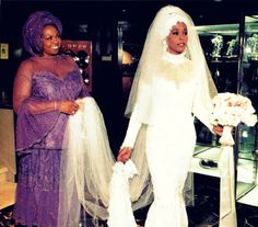 Whitney and her mother, Cissy, at Whitney's wedding.