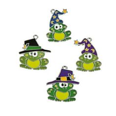 Check out this item in my Etsy shop https://www.etsy.com/listing/456398746/toad-charms-frog-charms-halloween