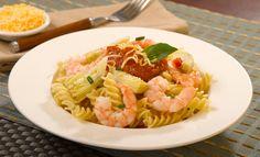 Receta de Pasta a la napolitana con camarón y alcachofa - PRONACA
