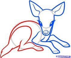 Drawing Easy how to draw a baby deer, baby deer step 5 3d Drawings, Animal Drawings, Drawing Sketches, Drawing Guide, Deer Drawing Easy, Baby Drawing, Deer Sketch, Deer Illustration, Illustrations