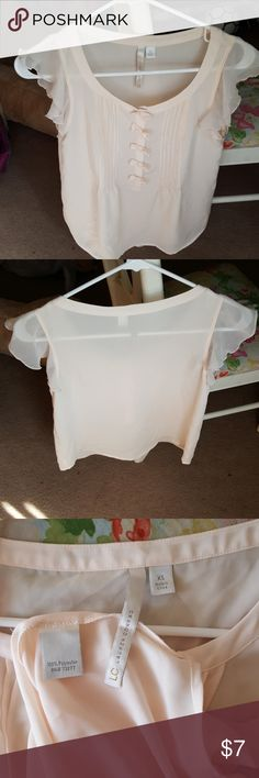 Blush Blouse Cute flowy blush blouse with snap bows. Tops Blouses