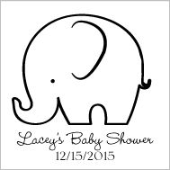 If you printed this elephant template, laid it on the cake and cut around it, it could look quite cute!