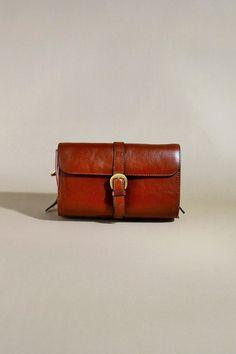 Original Vintage Brown Leather The Bridge Bag, Shoulderbag, Shoulderpurse door AllVintageBags op Etsy