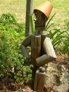 Scarecrow Garden/Yard Art by ClearlyMe on Etsy