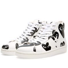 9b316156b3e3 The new Comme des Garcons PLAY x Converse Pro Leather Hi shoes do not  disappoint.
