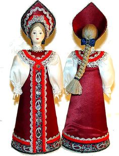 Hand-made Russian Doll in a 18th century Traditional Costume,Russian costume inspiration for Sk8 Gr8 Designs