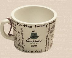 2011 Caribou Coffee Bouism Mini Mug Ornament