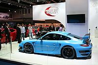 "Presentation of the TECHART GTstreet RS ""one of one"" at the Frankfurt International Motor Show (IAA)."