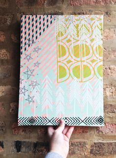 Customized hand printed stretched wall art You pick by EarthCadets