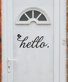 Love this for the front door.
