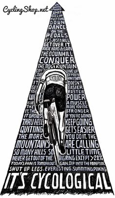 #cycling to conquer the odds. #CyclingShop
