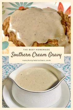 Homemade Country Gravy Recipe, Southern Gravy Recipe, Easy Gravy Recipe, Southern Recipes, White Country Gravy Recipe, Country Cooking Recipes, Homemade White Gravy, Country Fried Chicken, Venison Recipes