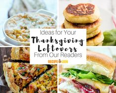 "We recently asked our readers, ""What do you do with Thanksgiving leftovers,"" and we are amazed by what our newsletter readers came up with! Stuffing Recipes For Thanksgiving, Thanksgiving Leftovers, Thanksgiving Side Dishes, Thanksgiving Desserts, Appetizer Recipes, Dessert Recipes, What To Cook, Turkey Recipes, Good Food"