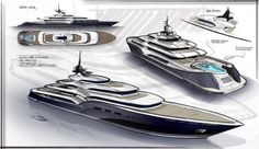 Yacht Dash Concept by Newcruise - Design Development Big Yachts, Luxury Yachts, Yacht Design, Boat Design, Speed Boats, Power Boats, Boat Sketch, Yacht World, Boat Drawing