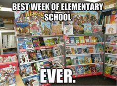 Best week of elementary school ever.