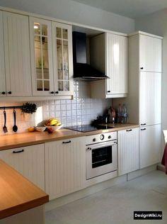 30 Designs Perfect for Your Tiny Kitchen area # Kitchen Ikea, Home Decor Kitchen, Kitchen Furniture, Kitchen Interior, New Kitchen, Home Kitchens, Kitchen Design, Kitchen Cabinets, Closed Kitchen