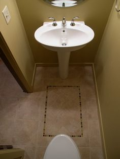 small powder room design