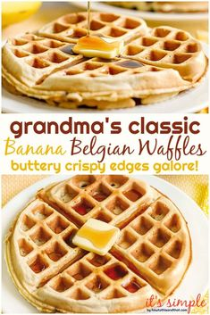 Grandma use to make these in those old cast iron waffle pans. I can still taste the buttery, crisp edges Easy Waffle Recipe, Waffle Maker Recipes, Homemade Waffles, Breakfast Recipes, Mexican Breakfast, Pancake Recipes, Breakfast Sandwiches, Breakfast Pizza, Breakfast Bowls