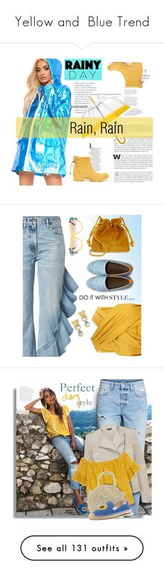 """""""Yellow and  Blue Trend"""" by yours-styling-best-friend ❤ liked on Polyvore featuring Sperry, Citizens of Humanity, Clare V., Mulo, Prada, Temple St. Clair, H&M, Mint Velvet, Madewell and Soludos"""