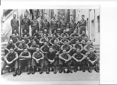 Company B, 238th Combat Engineer Battalion, WWII. EJ Miller is far right, last row.