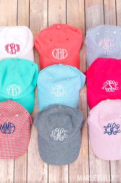75e37a0e77b Every girl needs a  monogrammed baseball hat! Get a color for each day of