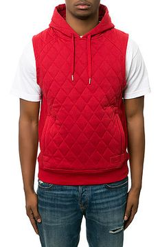 The Benberry Sleeveless Hoodie in Chili Pepper by Play Cloths