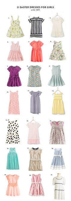 21 Non Traditional Easter dresses for girls under $40!