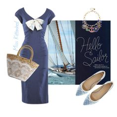 In the Navy Outfit Posts, Sailing, Navy, Shoe Bag, Polyvore, Stuff To Buy, Outfits, Shopping, Accessories