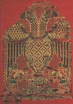 Textile with two-headed eagle and two chamois Spain, 12th c.