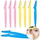 Set of 9 Eyebrow Razors Shavers Kit Eyebrows Shapers Lot Eye Brows Trimmers Pack Facial Face Hair Removers Removal Shaving Tools Reviews