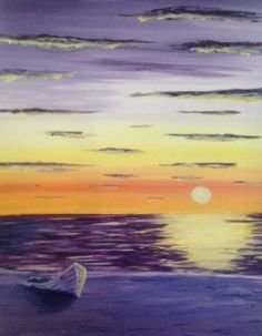 Paint Nite - Boat on a Beach