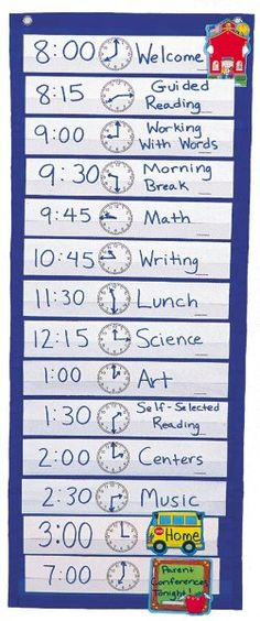 Scheduling Pocket Chart:Amazon:Books