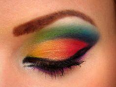 Starryskies' rainbow/bird of paradise look
